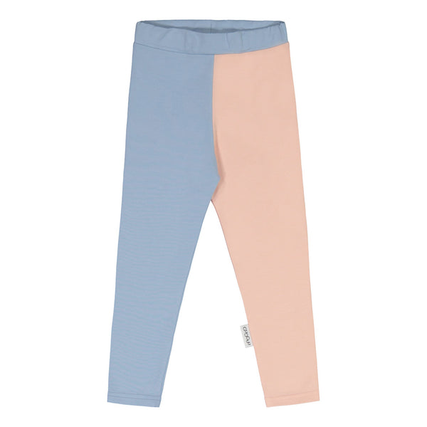 Gugguu 2-Väri Leggings Leggingsit Frozen Blue / Satin Pink 62