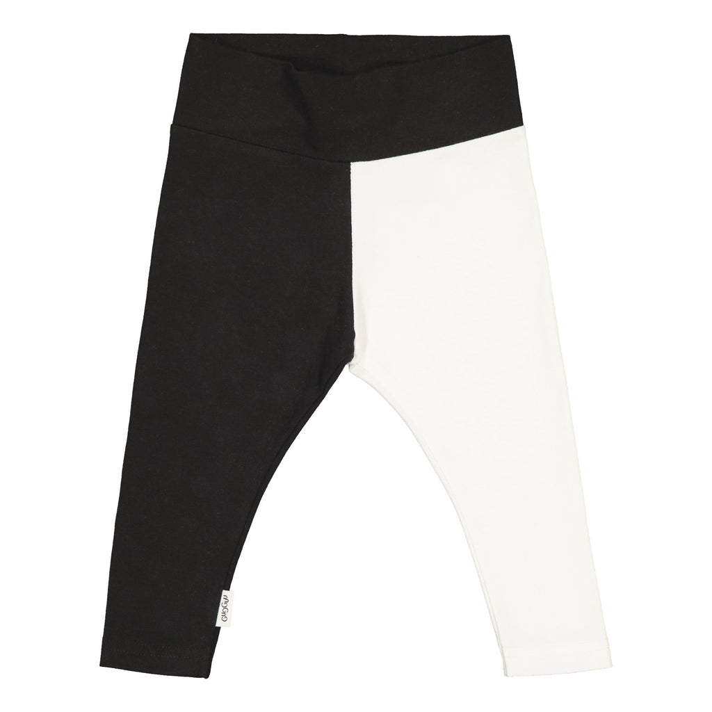 Gugguu Baby 2-Väri Leggings Leggingsit Black / Pearl White 50