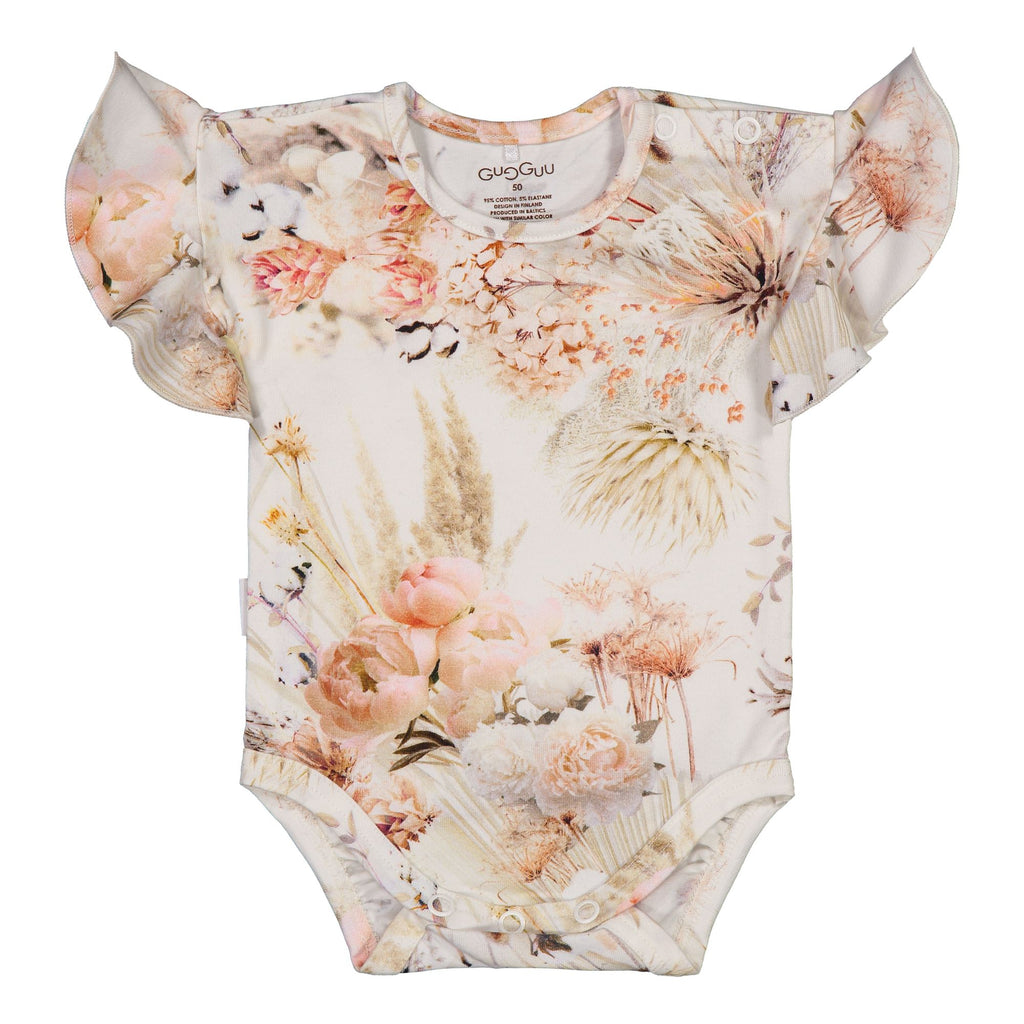 Gugguu Baby Print Smoc Body Bodyt Natural Flower 50