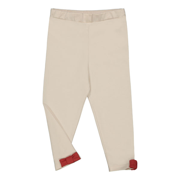 Gugguu Bow Leggingsit Leggingsit Latte / Spicy Red 80