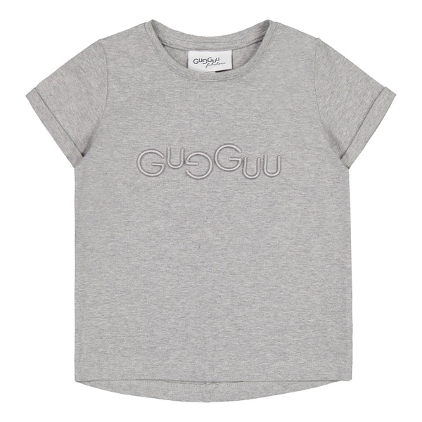 Gugguu Melange Logo T-paita Paidat Light Melange / Light Grey 80