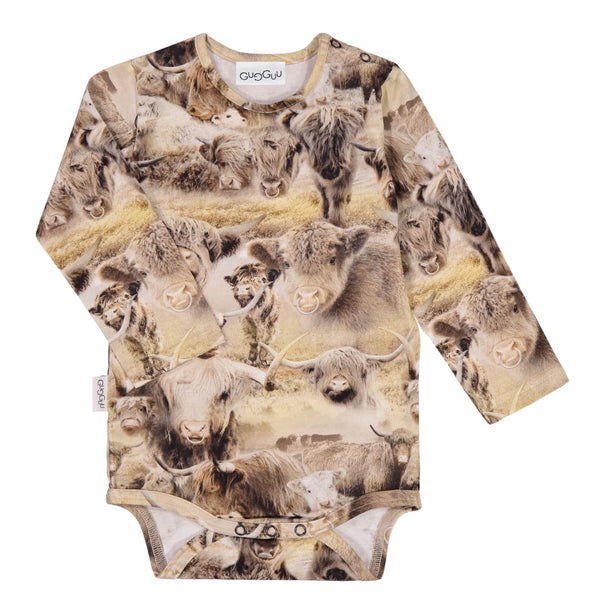 Gugguu Print Body Bodyt Highland Cattle 80