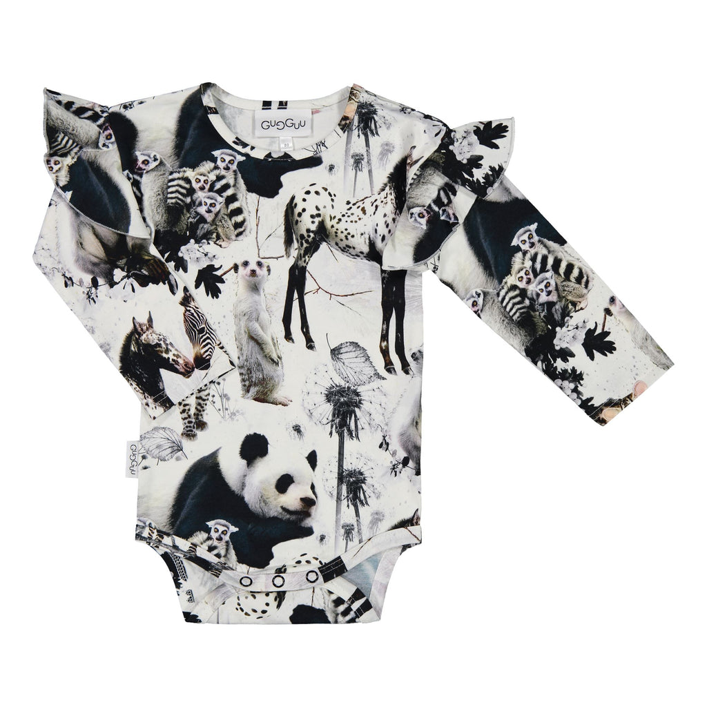 Gugguu Print Frilla body Bodyt Baby Animals 62
