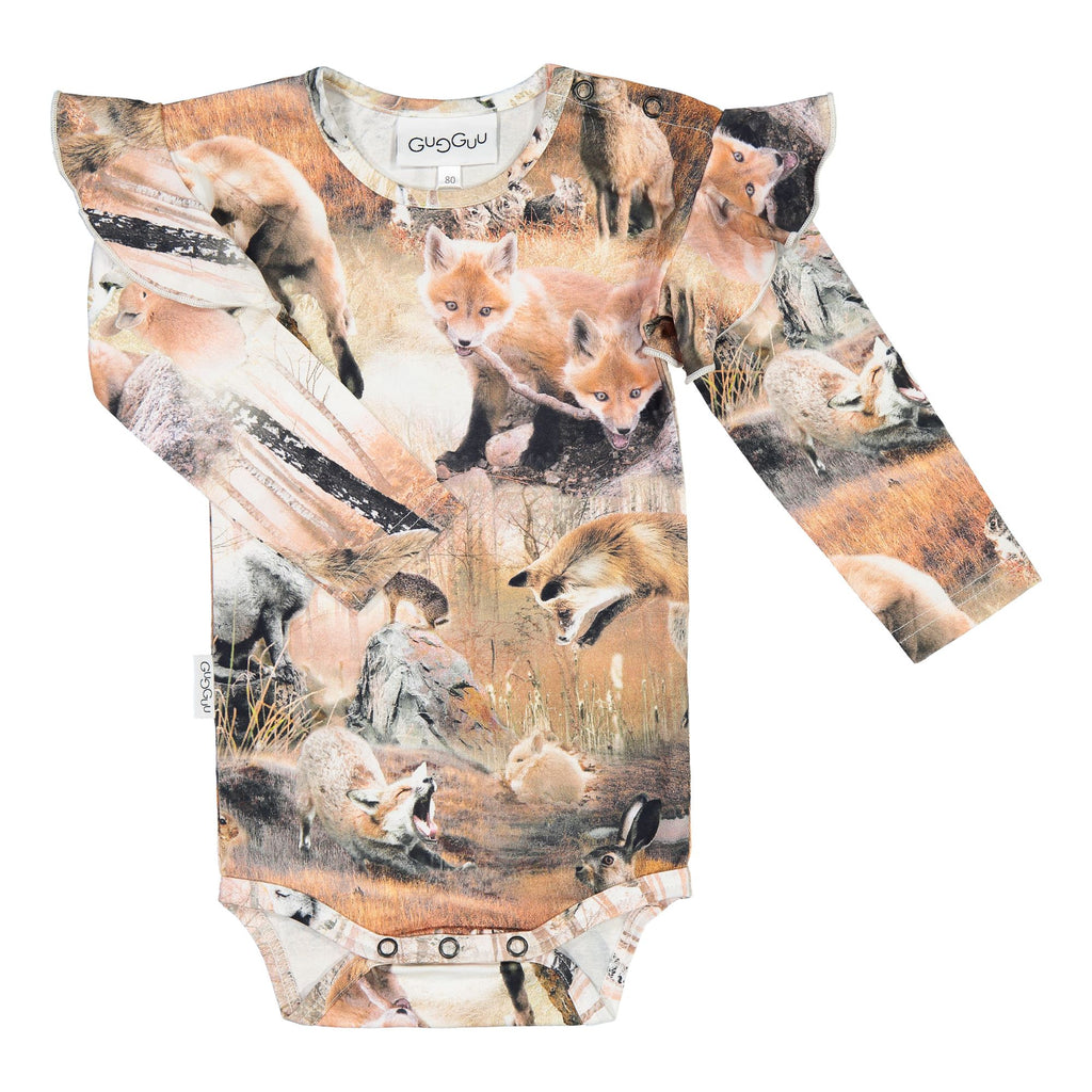 Gugguu Print Frilla Body Bodyt Dancing Foxes 62