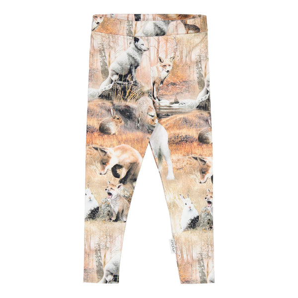 Gugguu Print Leggings Leggingsit Dancing Foxes 62