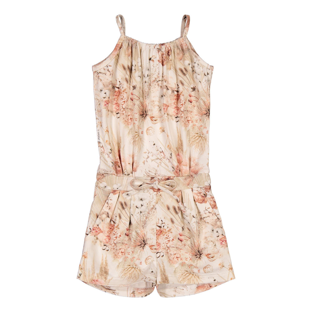 Gugguu Print Oneshort Jumpsuitit Natural Flowers 80