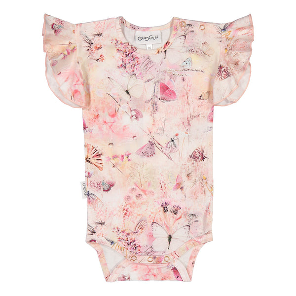 Gugguu Print Smoc Body Bodyt Coral Butterfly 80