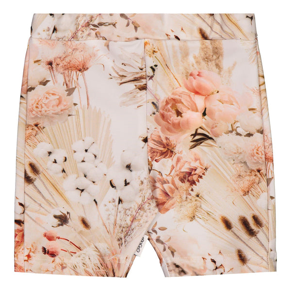 Gugguu Print UV Biker Shortsit Shortsit Natural Flower 74