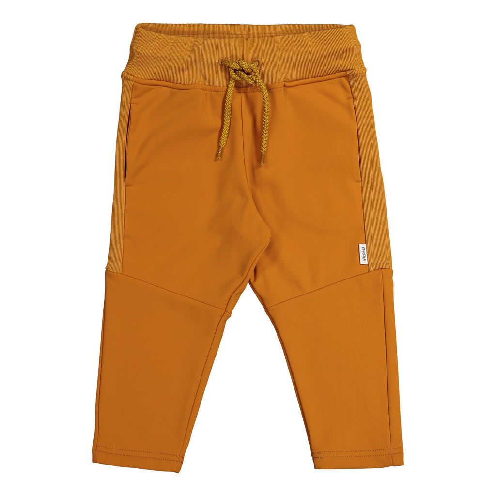 Gugguu Stripe Sport Pants verkkahousut Housut Tanned Yellow 80