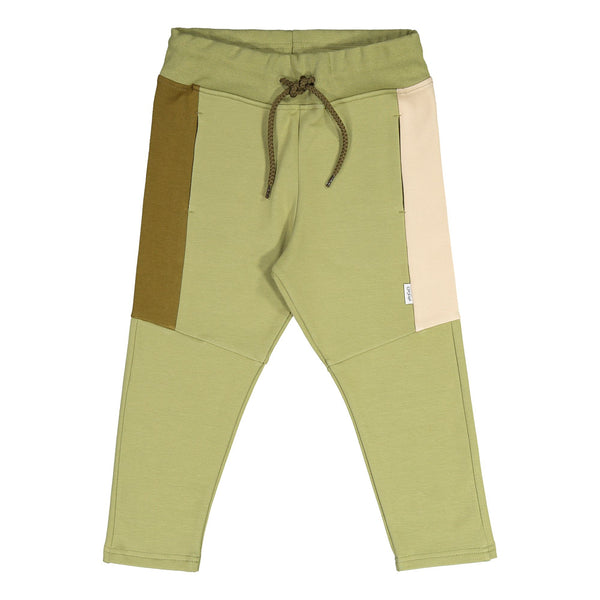 Gugguu Triple Collegehousut Housut Sage Green/ Olive Green/ Vanilla Coffee 80