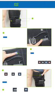 Electric Heated leg Brace Wrap with Rechargable 7.4V 2600Mah Battery