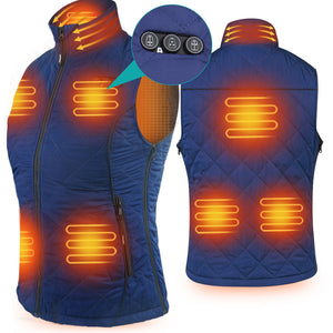 2020 New ARRIS Heated Vest for Women, Size Adjustable 7.4V Electric Warm Vest 8 Heating Panels with Battery Pack