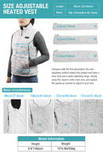 Load image into Gallery viewer, ARRIS Heated Vest for Women, Size Adjustable 7.4V Electric Warm Vest 8 Heating Panels with Battery Pack