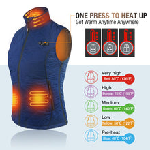 Load image into Gallery viewer, 2020 New ARRIS Heated Vest for Women, Size Adjustable 7.4V Electric Warm Vest 8 Heating Panels with Battery Pack