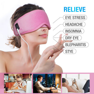 ARRIS Electric USB Heated Eye Mask with 5 Temperature Control