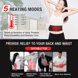 ARRIS Heating Waist Belt/Heated BackStraps for Back Pain Relief