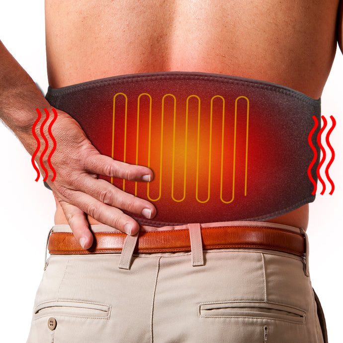 ARRIS Heating Waist Belt/Heated BackStraps for Back Pain Relief with Battery (Lengthened Version)