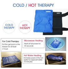 Load image into Gallery viewer, Arris Large Reusable Ice Packs for Back, Hot & Cold Therapy Pain Relief with Straps