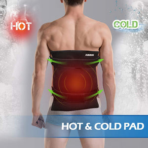Arris Large Reusable Ice Packs for Back, Hot & Cold Therapy Pain Relief with Straps XA0023