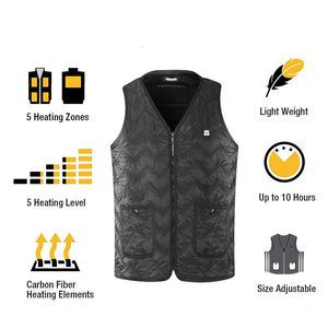 ARRIS Winter Outdoor USB Infrared 7.4V Battery Heated Vest