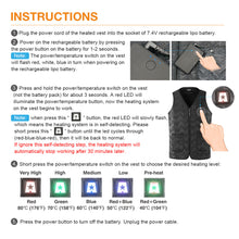 Load image into Gallery viewer, ARRIS Winter Outdoor USB Infrared 7.4V Battery Heated Vest