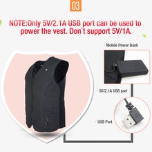 Load image into Gallery viewer, ARRIS 5V Heated Vest Hook and Loop Size Adjustable Heated Clothing