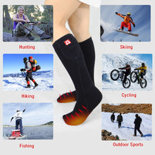 Load image into Gallery viewer, ARRIS Battery Powered Electric Heating Socks for Camping Hiking Climbing Ice Fishing Skiing and Chronically Cold Feet