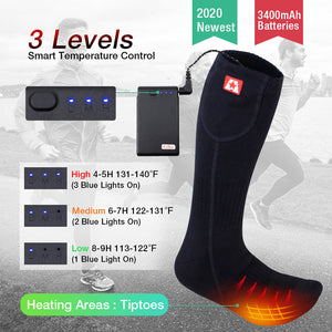 ARRIS Battery Powered Electric Heating Socks for Camping Hiking Climbing Ice Fishing Skiing and Chronically Cold Feet