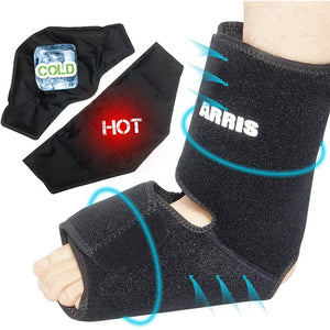 Ankle and Foot Ice Pack Therapy Wrap for Sprained Ankle, Achilles Tendon Injuries, Plantar Fasciitis, Bursitis & Sore Feet
