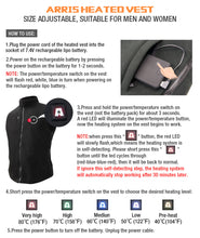 Load image into Gallery viewer, New ARRIS 7.4V Battery Heated Vest Size Adjustable Vest(Fleece)