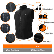 Load image into Gallery viewer, 2019 New ARRIS 7.4V Battery Heated Vest Size Adjustable Vest(Fleece)