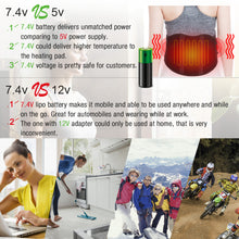 Load image into Gallery viewer, ARRIS 7.4V Battery Heating Massage Back Belt Wrap with Vibration Massager