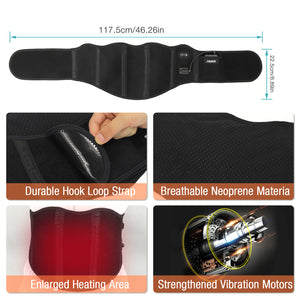 ARRIS 7.4V Battery Heating Massage Back Belt Wrap with Vibration Massager