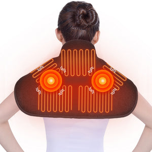 ARRIS Heating Massage Pad for Neck Shoulder and Back with 7.4V Battery Pack