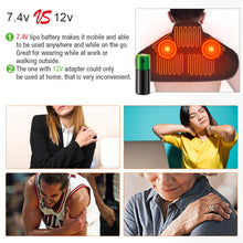 Load image into Gallery viewer, ARRIS Heating Massage Pad for Neck Shoulder and Back with 7.4V Battery Pack