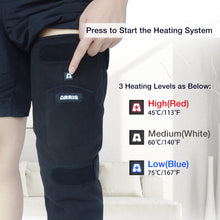 Load image into Gallery viewer, 7.4V 4200mah Battery Powered Full Leg Heated Fleece Knee Wrap for Pain Relief