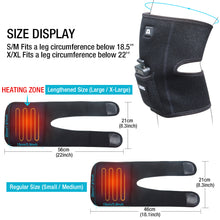 Load image into Gallery viewer, ARRIS 7.4V 4200mah Battery Therapy Heated Knee Pad Wrap and Electric Heat Knee Brace for Pain Relief