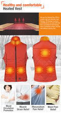 Load image into Gallery viewer, ARRIS Size Adjustable 7.4V Battery Orange Electric Heated Vest Clothing for Women Hiking Camping
