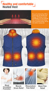 ARRIS Size Adjustable 7.4V Battery Blue Electric Heated Vest Clothing for Women