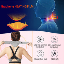 Load image into Gallery viewer, ARRIS USB Cord Graphene Far Infrared Therapy Heating Neck Brace Wrap with Adjustable Time and Temperature Control