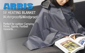 ARRIS Heated Blanket 5V Electric Outdoor Fleece Waterproof Windproof Blanket for Indoor and Outdoor Activities