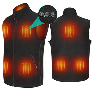 ARRIS Fleece Heated Vest for Men 7.4V Electric Warm Vest 8 Heating Panels Size Adjustable for Hiking Cycling …