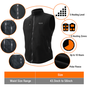 arris heated vest with battery pack
