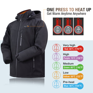 Battery heated jacket for men