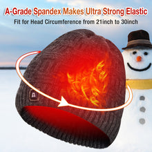 Load image into Gallery viewer, ARRIS Heated Hat, Electric Winter Heated Beanie Hat with Rechargeable Battery for Men Women Black