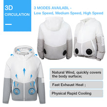 Load image into Gallery viewer, ARRIS Men 5V USB Cooling Fan Jacket Clothing and Air Conditioned Coat for Summer Outdoor Work