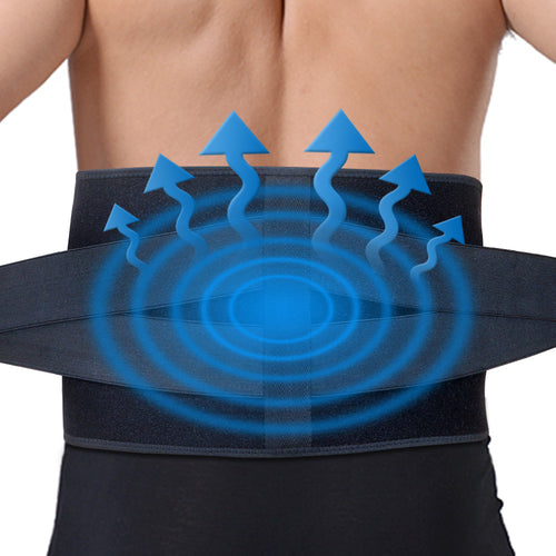 Ice Pack for Lower Back Pain Relief - Hot Cold Back Brace - for Lumbar, Waist, Abdomen, Hip Back Injuries
