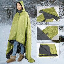 Load image into Gallery viewer, Fancywing Outdoor Waterproof Windproof Stadium Large Size Fleece Blanket with Hood (79 x 55 inches)