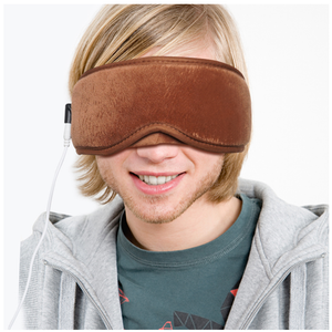 ARRIS Electric USB Heated Eye Mask with 5 Temperature Control Warm Treatment for Relieving Insomnia