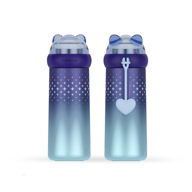 Gradient Stainless Steel Bottle - Bear